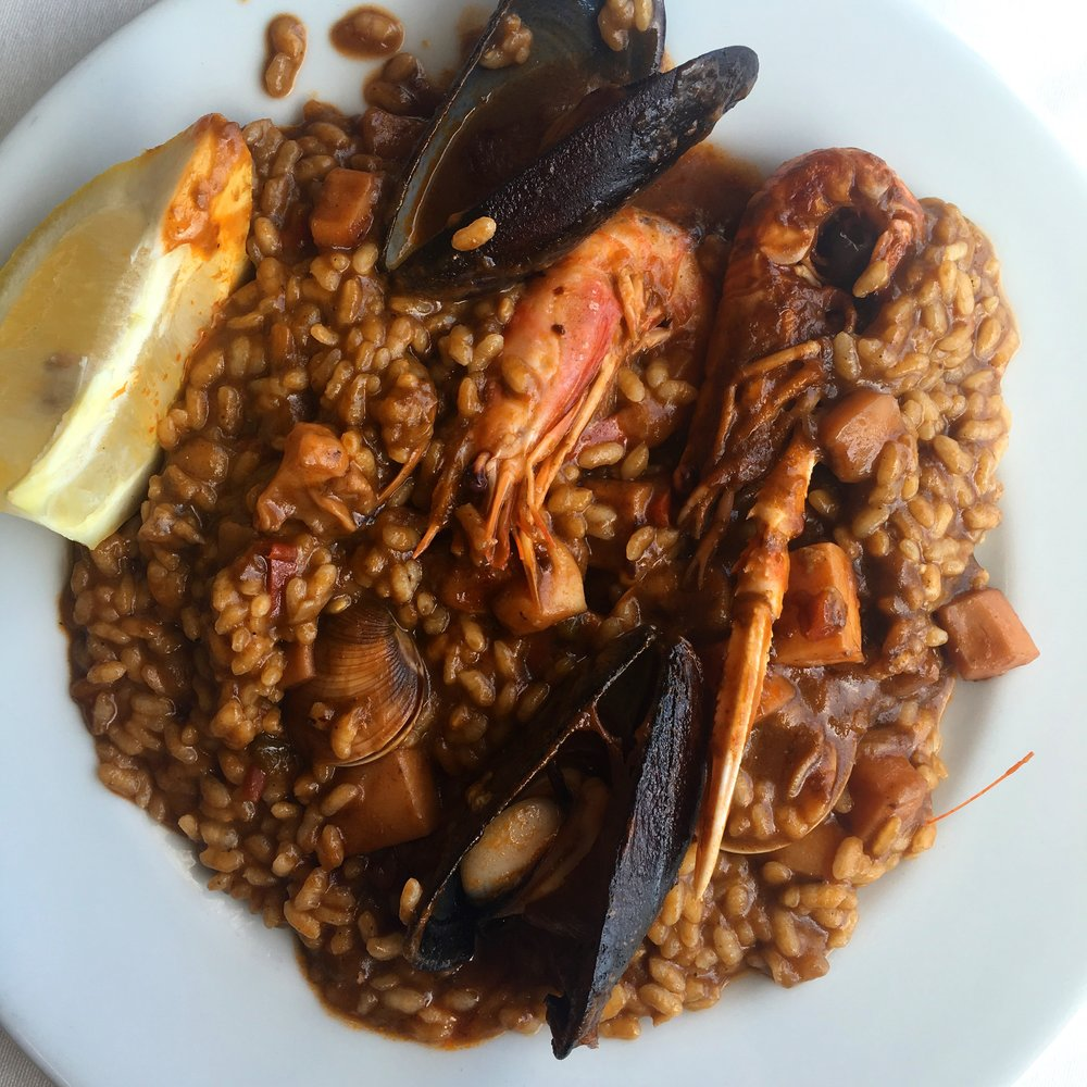 Seafood Paella is one of the must try foods in Barcelona especially during summer time.