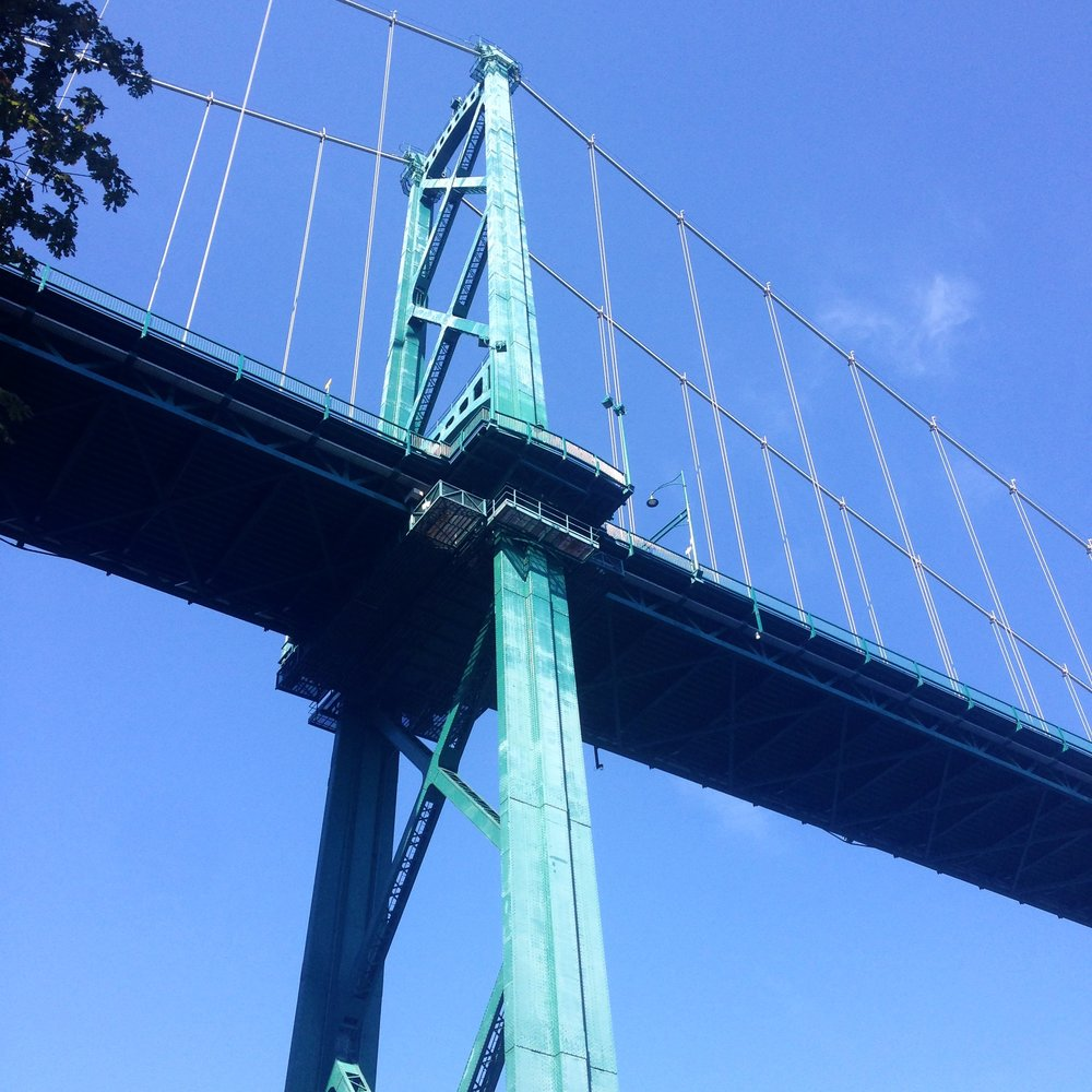 We have always been fans of bridges, but Lions Gate in Vancouver tops our list.