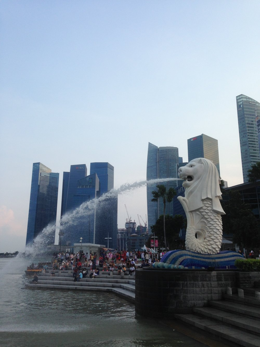 "The symbol of Singapore. The fish part represents Singapore's origins as a fishing village while the lion head is a nod to Singapore's original name, Singapura, meaning ""Lion City"" in Malay."