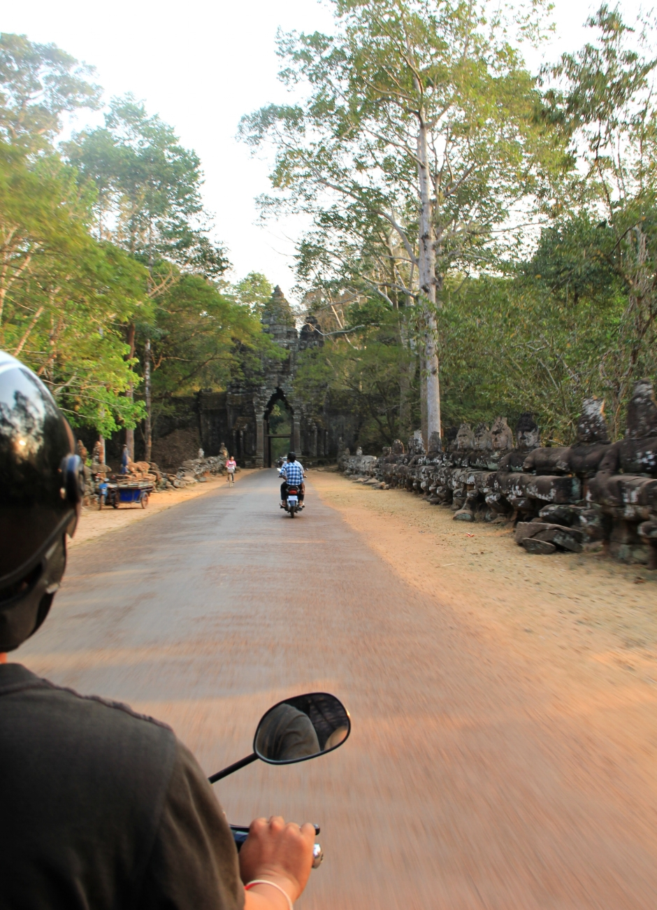 Back to explorer mode. Tuk tuk around and stop whenever you find an interesting temple, animal or tree.