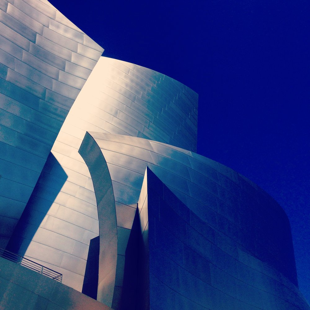 Frank Gehry's Walt Disney Concert Hall 💙 Absolutely in love with this structure.