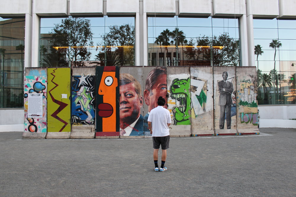 Berlin Wall. Wilshire Boulevard. History.  This is the largest stretch of the Berlin Wall outside Germany and is part of the Wende Museum's permanent collection.