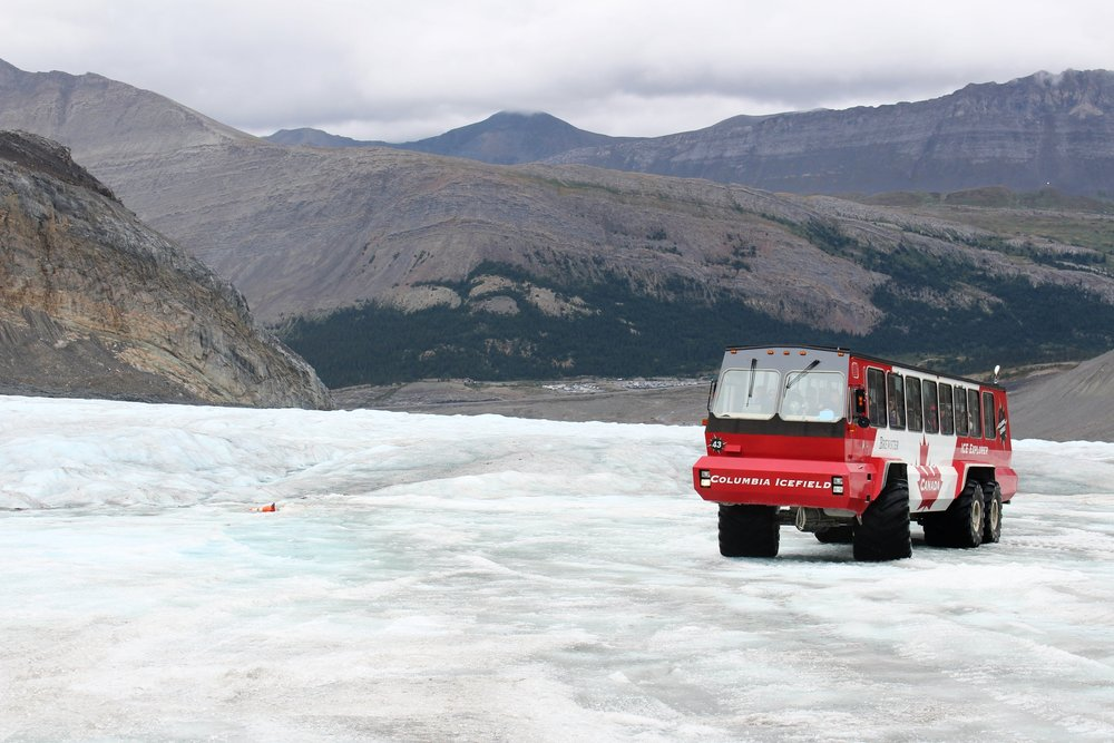 The Columbia Icefield is the largest in the Rocky Mountains in North America. This is a spectacular sight that you must visit. Dress warm!