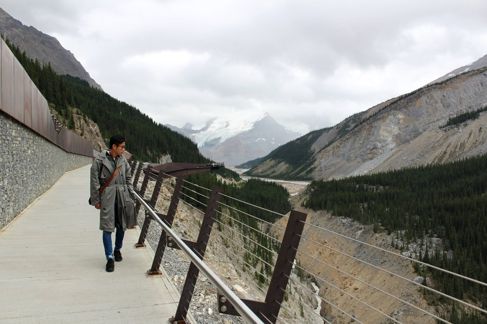 One of our favourite places to visit. The Glacier Skywalk in Jasper is breathtaking as you can see how it's built into this natural wonder. We were lucky enough to see a family of mountain goats below us.