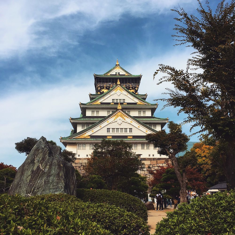 The Osaka Castle 🏯 represents Japanese architecture at its finest.