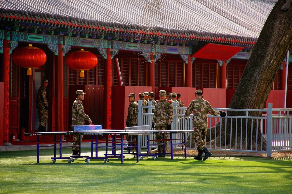 Even the Forbidden City guards need some leisure time :P