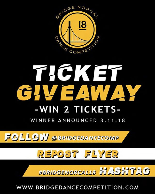 ❗️TICKET GIVEAWY❗️ 1.Follow this account 2.Repost this flyer 3.Hashtag #BRIDGENORCAL18 - MAKE SURE YOUR PROFILE IS PUBLIC