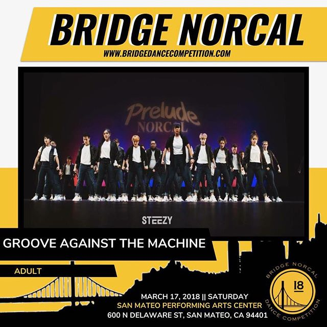 Catch @grooveagainstthemachine competing at Bridge NorCal next weekend!  _____________________________________________________ 🎟: www.bridgedancecompetition.com