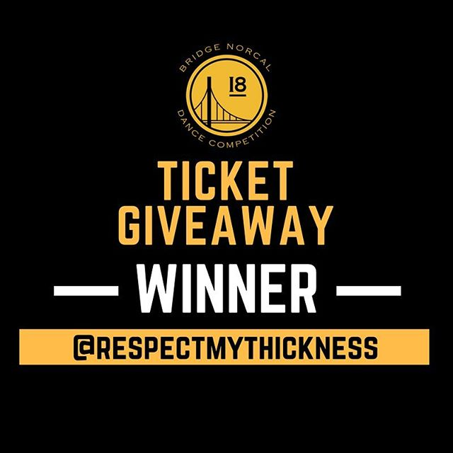 Congratulations to our ticket giveaway winner @respectmythickness 🎉 see you at Bridge NorCal!
