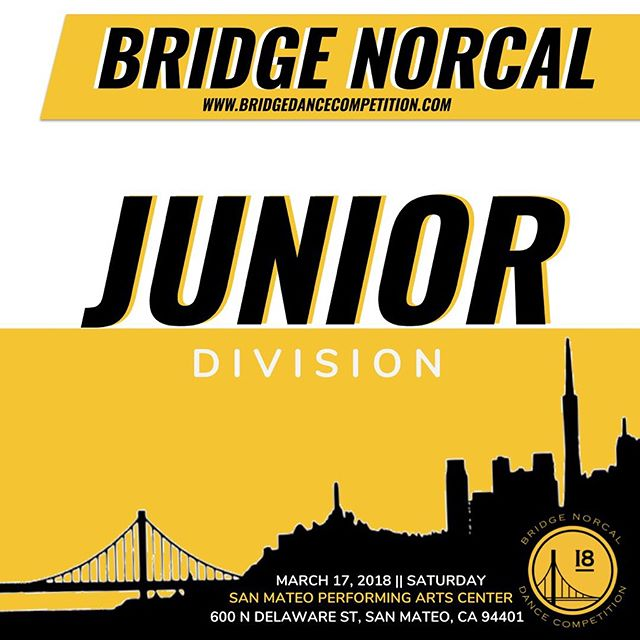 Are you ready to watch these junior teams compete?! We are only 3 days away from Bridge NorCal! 🎉 _____________________________________________________ 🎟: www.bridgedancecompetition.com
