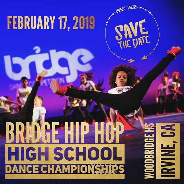 ATTENTION ALL HIGH SCHOOL DANCE TEAMS! Excited to announce our newest project: Bridge Hip Hop High School Championships.  More info coming soon at bridgedancecompetition.com