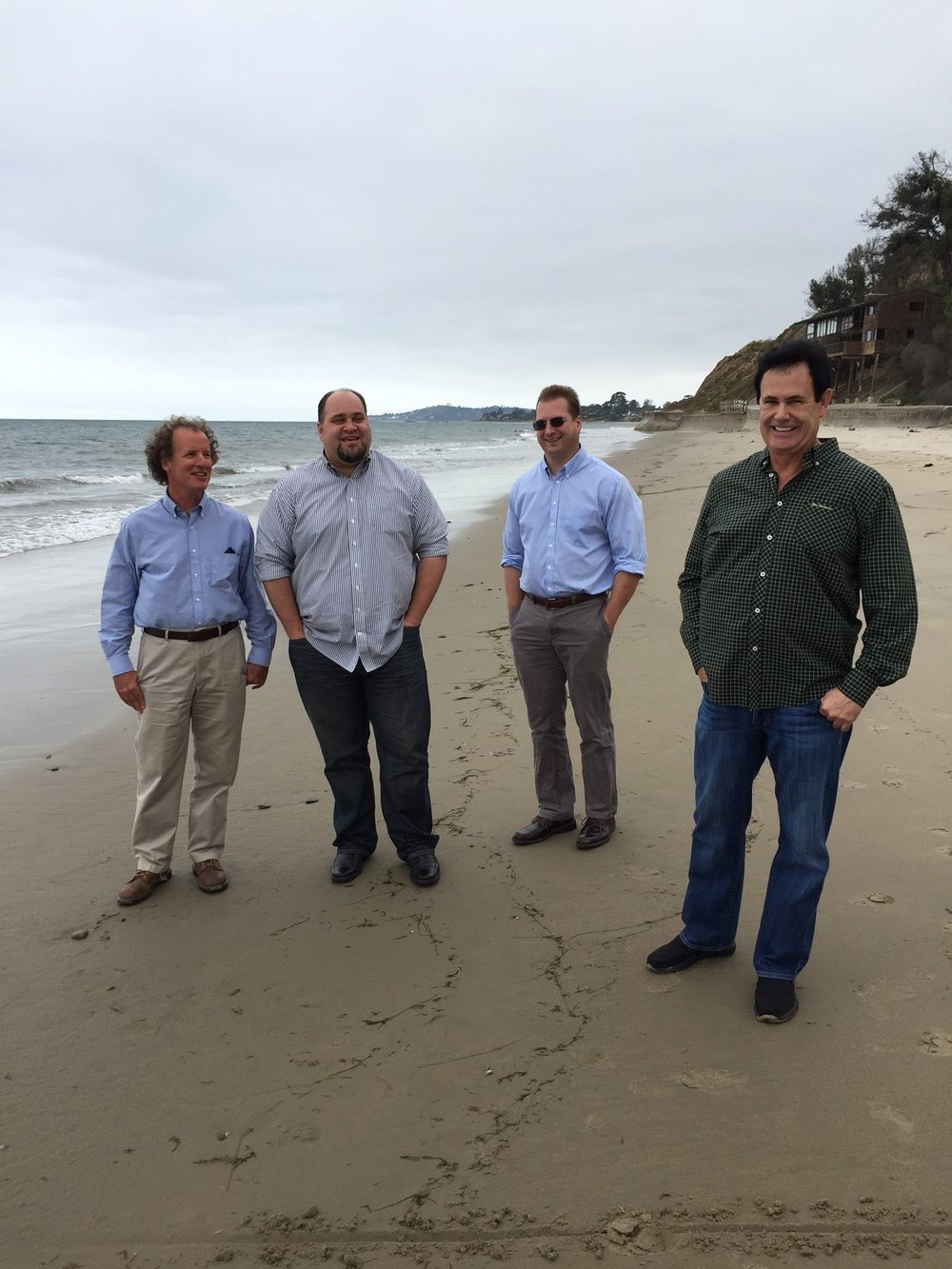 State Lands Commission Officials at Summerland Beach. Photo by Hillary Hauser.