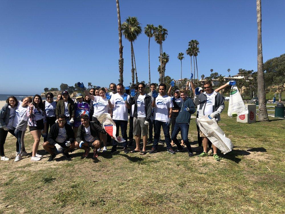 EF International Students on East Beach, Santa Barbara