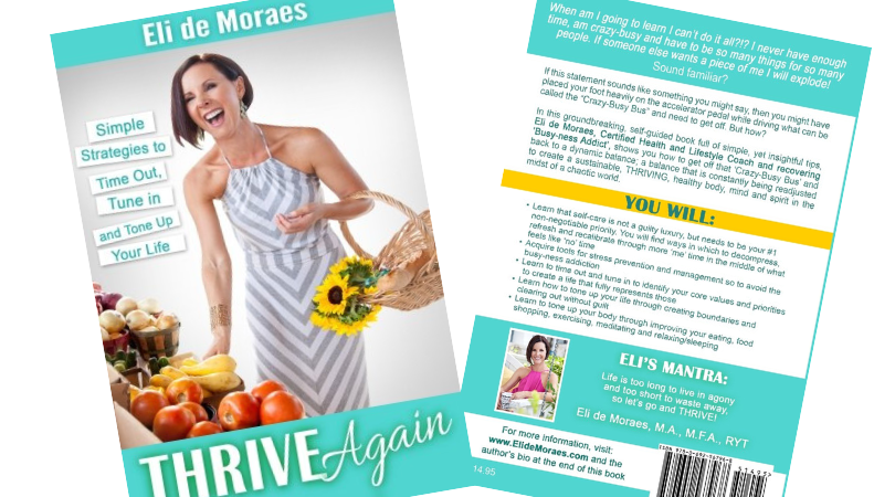 "Bonus #3 The ""Thrive Again"" book sent to your door! - I wrote this book a few years ago while practicing Health Coaching and it fits perfectly for this ""experience""! It's all about how to time out in your life, tune into what you truly desire, and how to tone up your life and body! I hope you enjoy receiving it and reading it!"