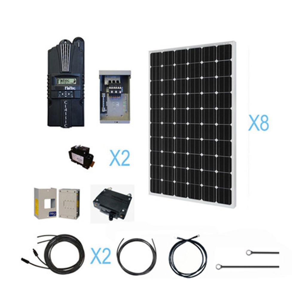 a 2000 watt Mini Solar Farm is A great way to start.