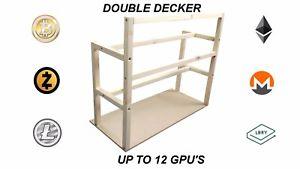 DOUBLE DECKER MINING RIG 12 GPU CASE