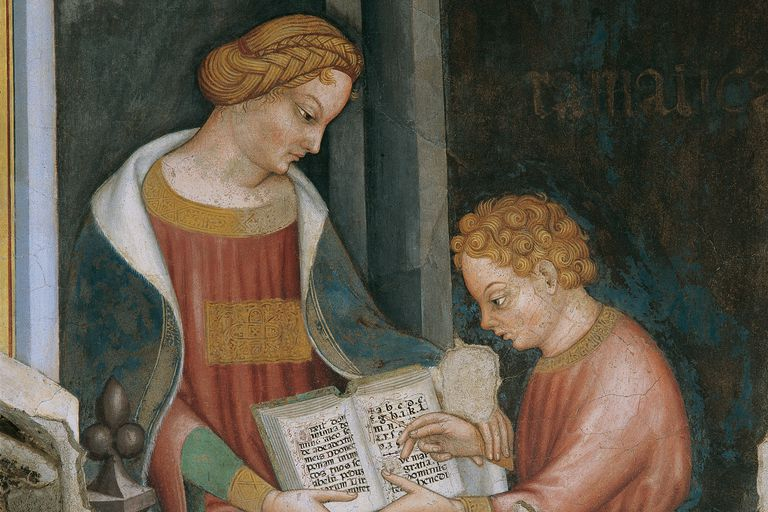 Old Painting of Tutor and Student
