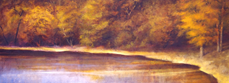 Autumn Shoreline - 32x84