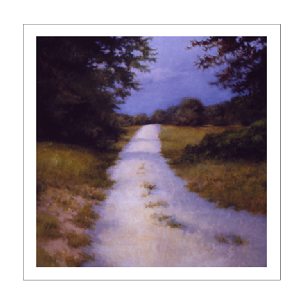 QUIET BACK ROAD - 30x30