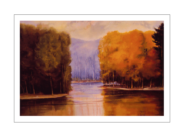LIGHT, TREES, WATER - 28x42