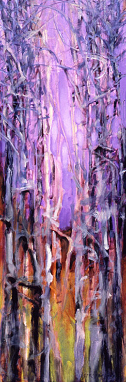 Tree Squeeze, Study #10 - 36x12 Sold