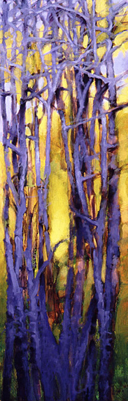 Tree Squeeze, Study #12 - 36x12 Sold