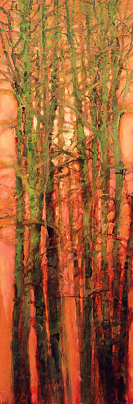 Tree Squeeze, Study #13 - 36x12 Sold