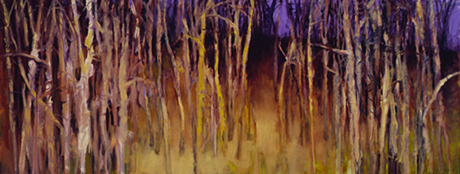 Treescape with Purple Sky II - 28x72