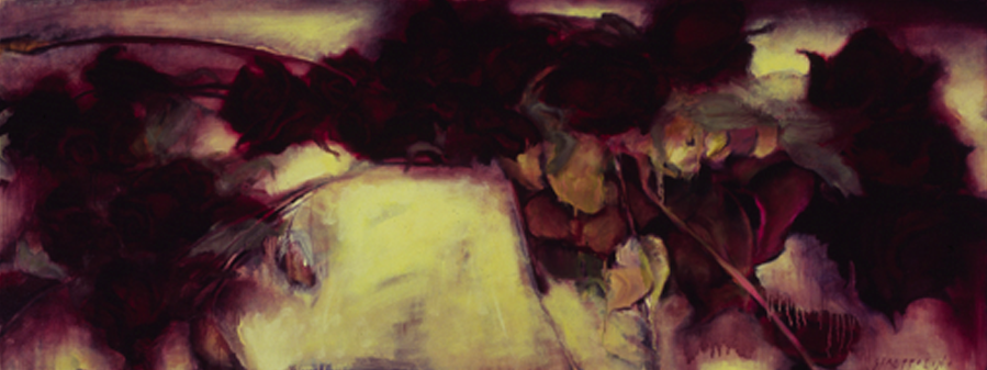 Dried Roses - 32x84 Sold