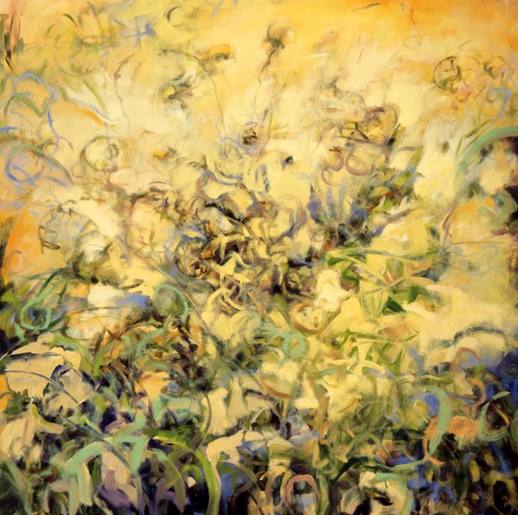 Garden Reflection, Study - 48x48