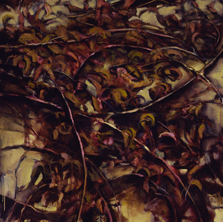 Vines and Wall III - 48x48