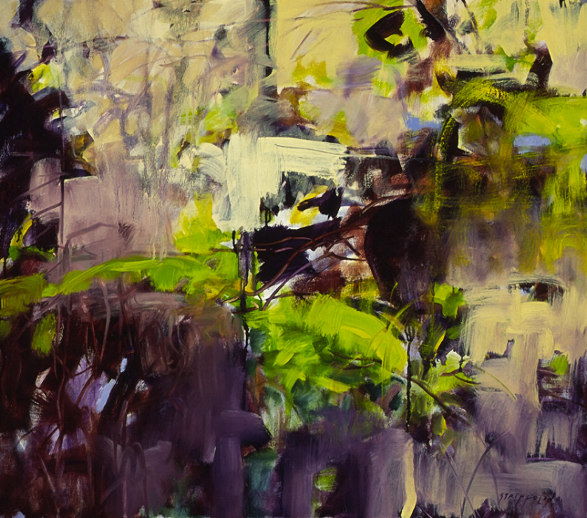 Vines and Wall, Study V - 28x32