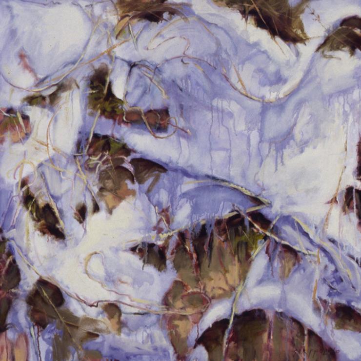 Snow, Vines Wall, Study - 32x32