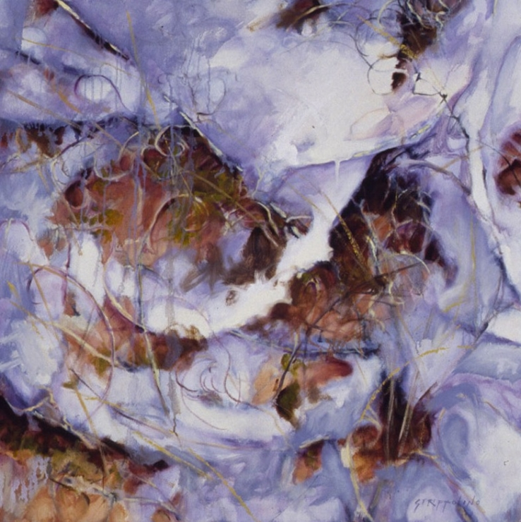 Snow, Vines Wall, Study II - 32x32