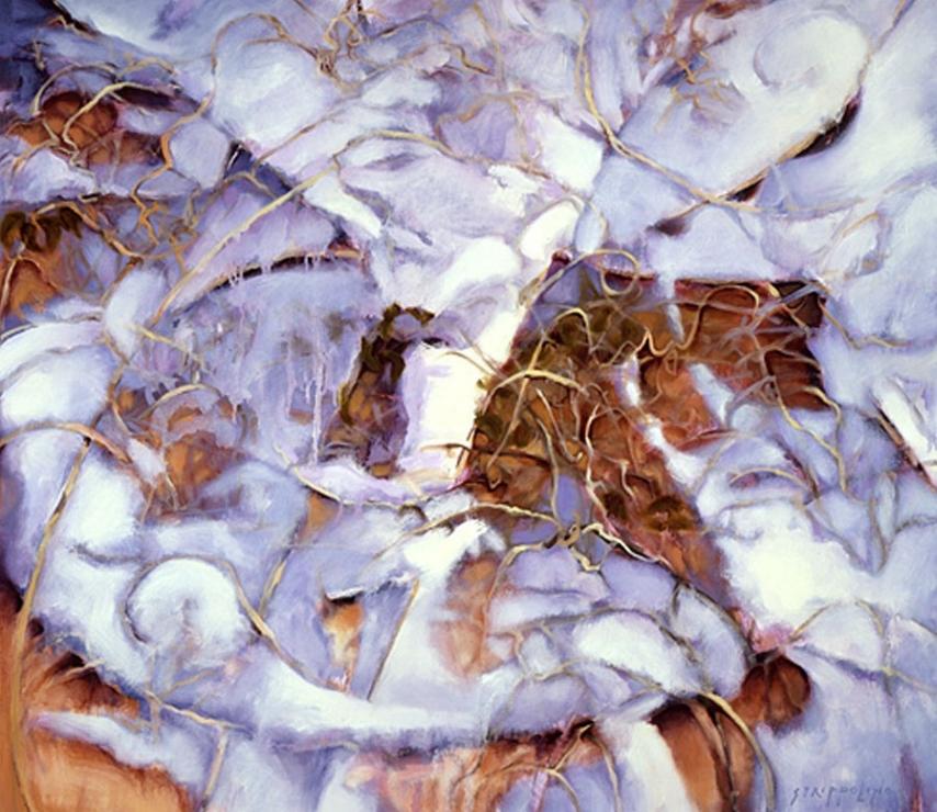 Snow, Vines, Wall - 42x48