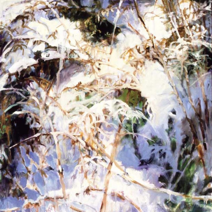 Snow and Grasses - 56x56 Sold