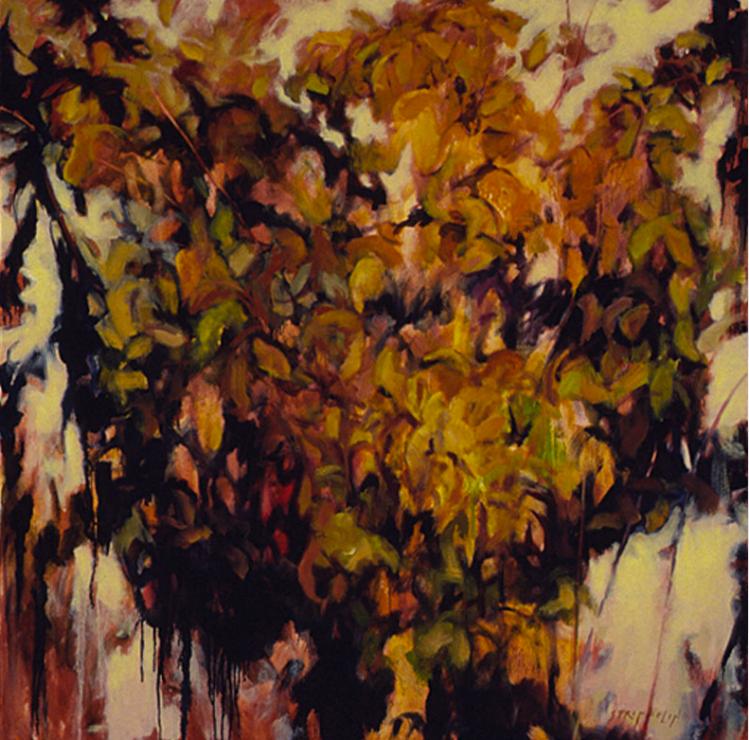 Autumn Dogwood Study II - 48x48