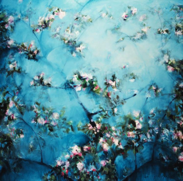 Apple Blossoms II - 60x60