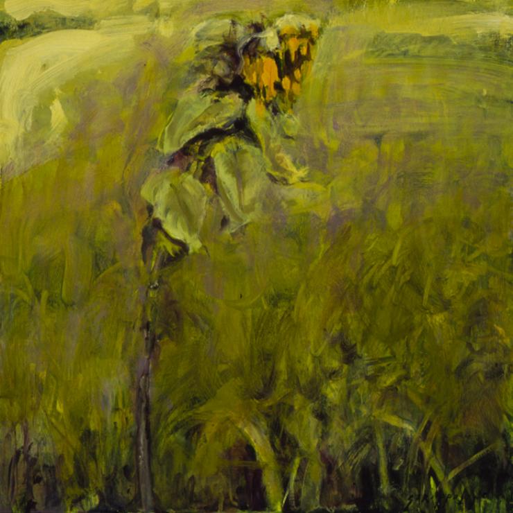 Sunflower In Field #3 - 18x18