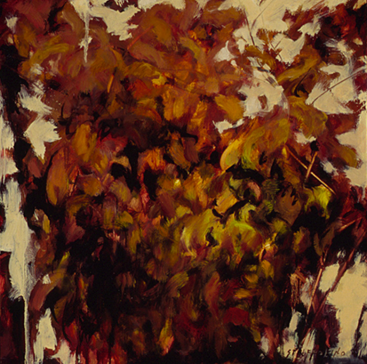 Autumn Dogwood, Study - 18x18