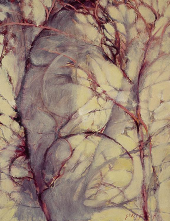 Vines and Wall, Study III - 18x14
