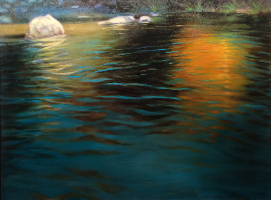 Waterscape With Rocks II - 36x48