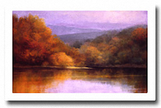 OCTOBER LAKESIDE Image: 24 x 36, Paper: 27 x 39