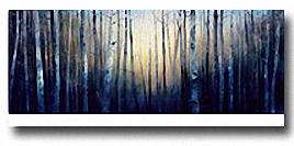 BLUE TREESCAPE Image: 12 x 36, Paper: 14.25 x 36