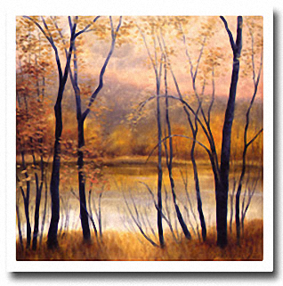PEACEFUL RIVERSIDE Image: 36 x 36, Paper: 39 x 39
