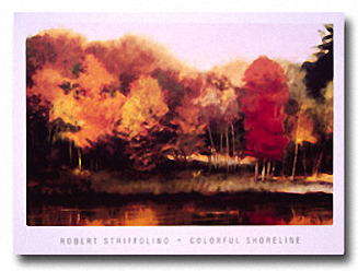 COLORFUL SHORELINE Image: 22 x 33, Paper: 27 x 36