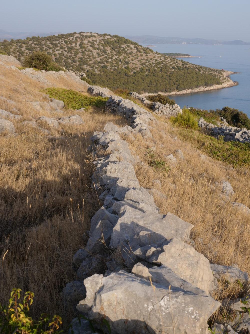 Dividing the island,  Zmajan, Croatia