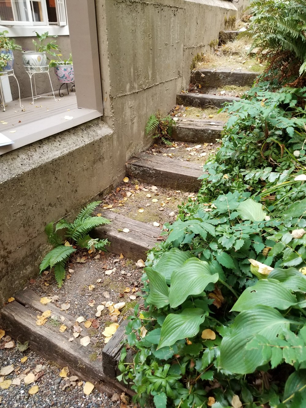 Before, a rotten staircase...