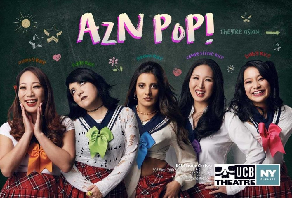 Clever Tagline About the Show - AzN PoP is the world's first Asian-American pop group from the USA. Join Baby Rice, Quirky Rice, Edgy Rice, Competitive Rice, and Brown Rice as they kick off their tour by dancing, singing and rapping about boys, friendship, and systemic racism and oppression! CUTE!