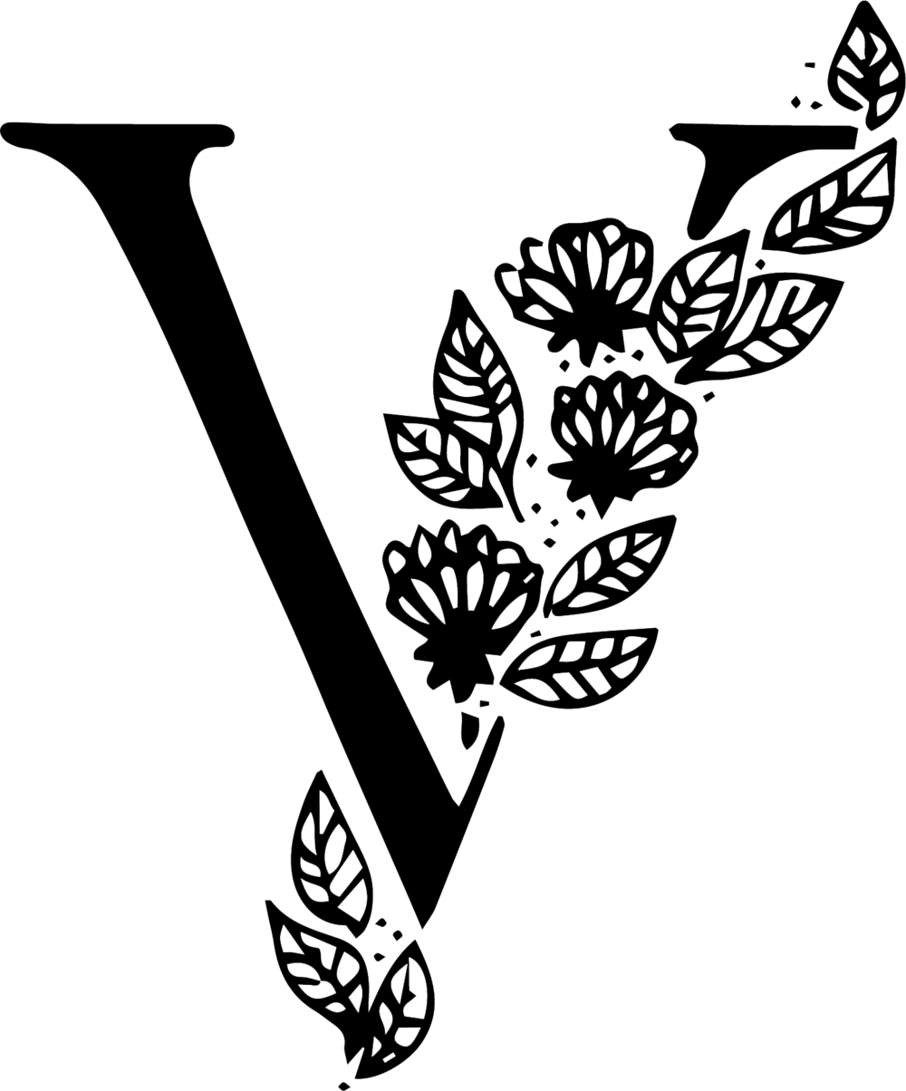 Vanessa Todd Photography Logo V Initial with florals